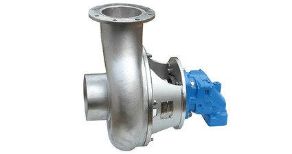 Pump with hydraulic motor